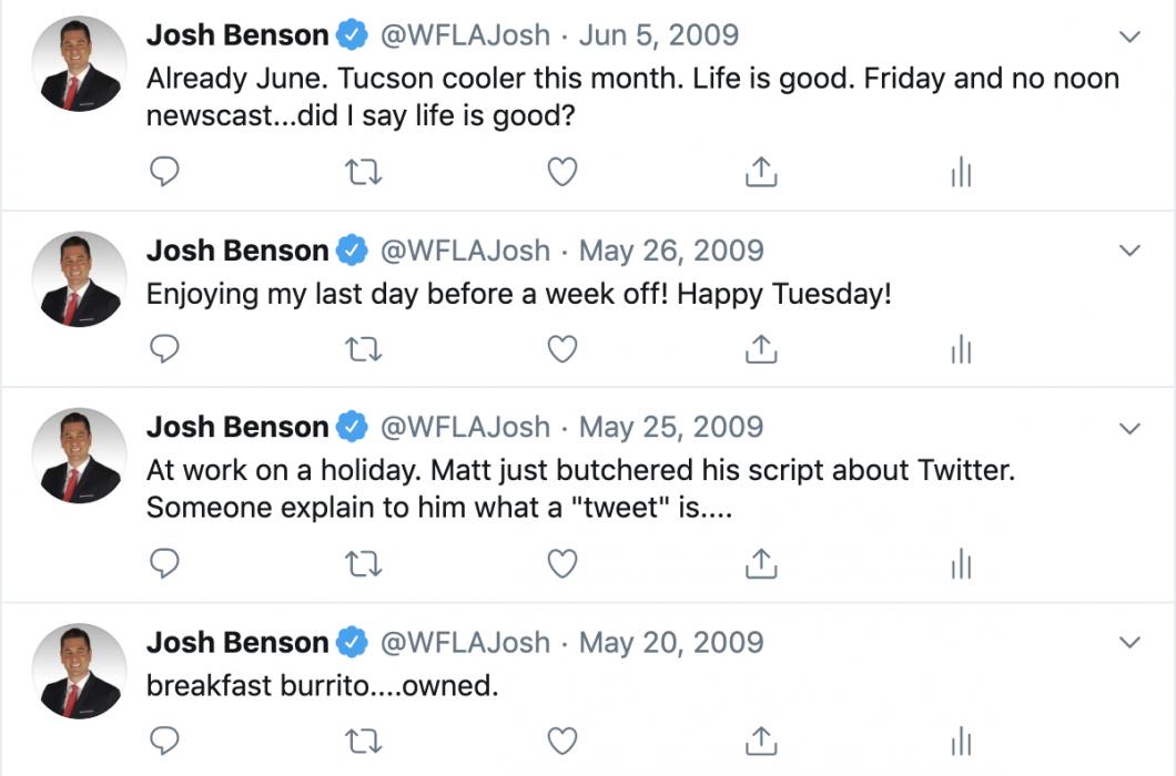 Josh Benson Twitter