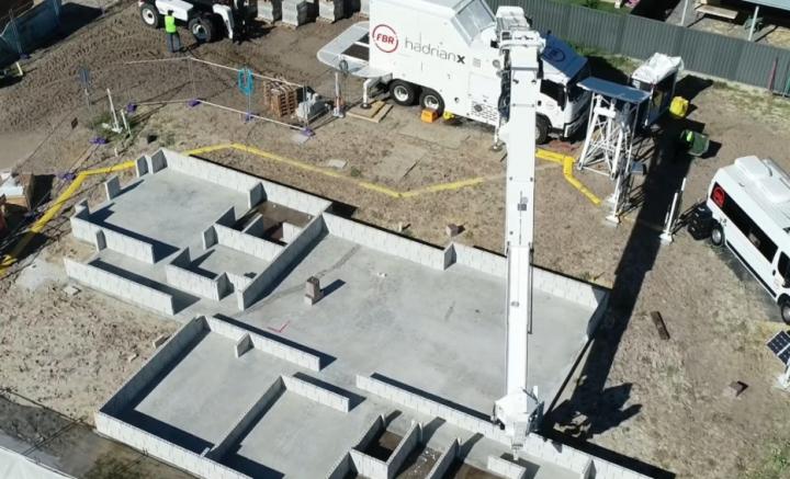 The brick-laying robot